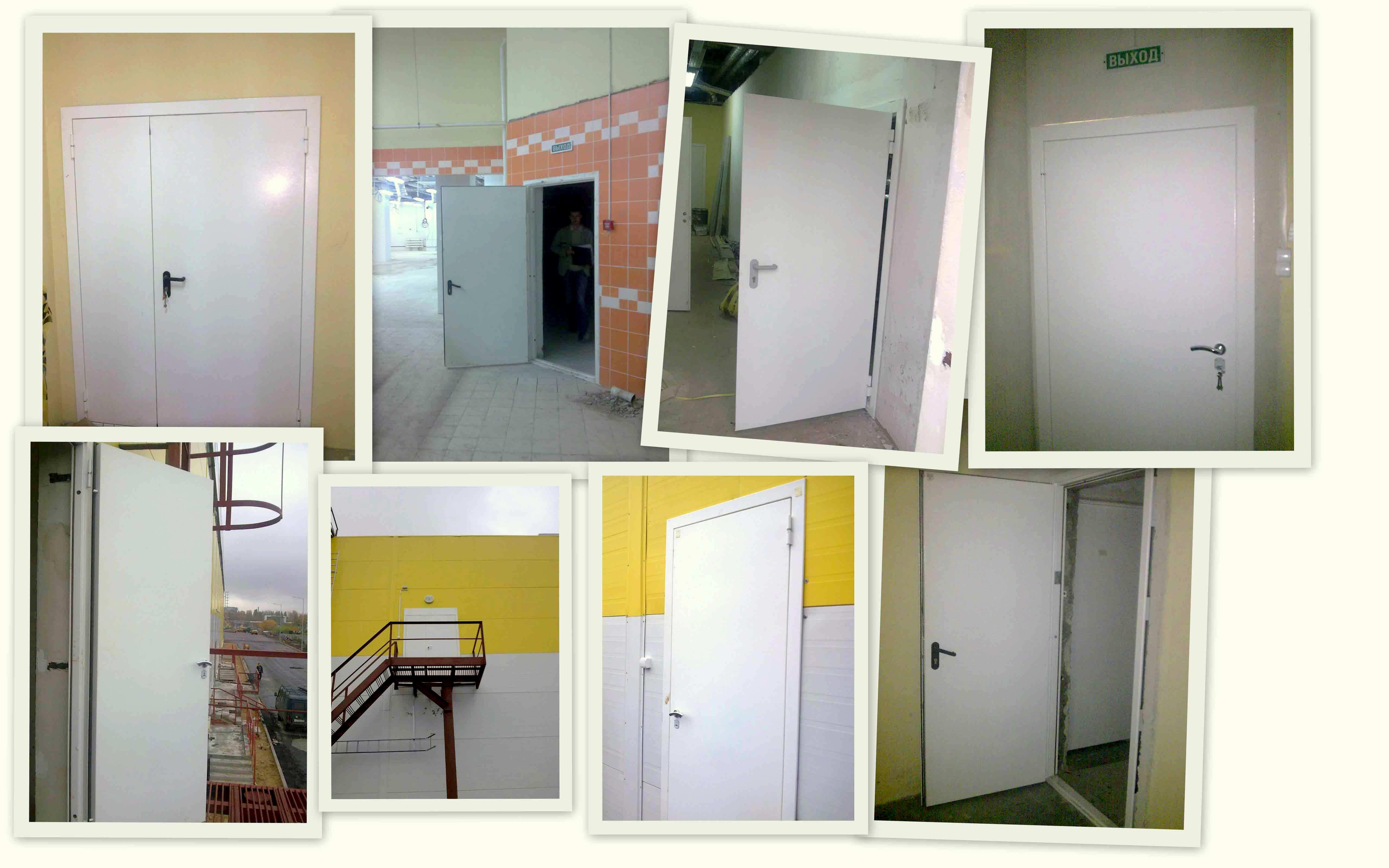 противопожарные металлические двери монтаж
